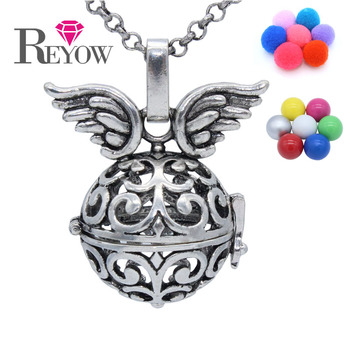 BUY 2+ GET 1 FREE! Antique Silver Locket Chime Ball Angel Caller Pendant Aromatherapy Essential Oil Diffuser Necklace Jewelry