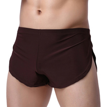 Home Sleep Bottoms Underwear Men Shorts Casual Homes Family Breech Comfortable Loose Man Boxers Breathable Lounge Smooth Pajama