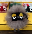 super size Mink fur pompom monster  Strap Bags Bugs Charms   key chains key rings  car accessory  gifts