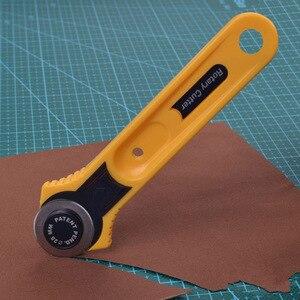 Image 3 - בד רוטרי קאטר DIY אמנויות אמנות חיתוך כלי טלאי רולר גלגל עגול סכין תפירת אביזרי עור נייר בד