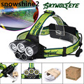 snowshine2#3522 25000LM 5X XML T6 LED Rechargeable 18650 USB Headlamp Headlight Head Light Torch free shipping wholesale