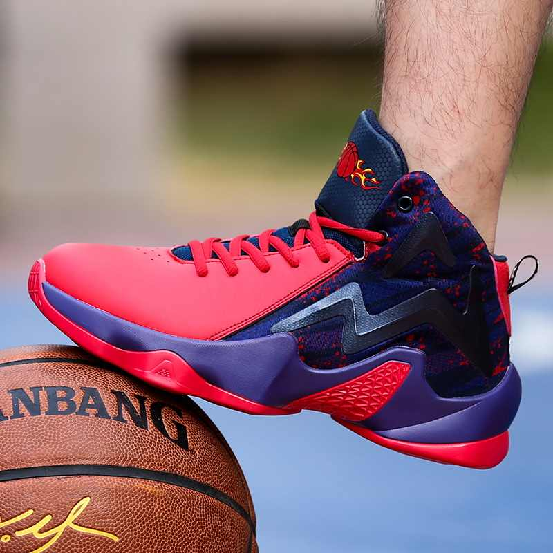 LUONTNOR Blue Red Man Basketball Shoes
