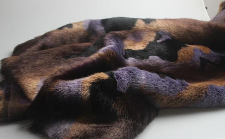 5 Estilo Rex conejo largo pelo animal algodón felpa lana tela para abrigo textil parches hechos a mano Jacquard grueso tejido de lentejuelas a346 - 6