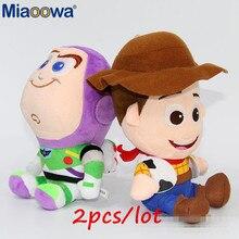 2 pz lotto 20 cm Del Fumetto Toy Story Woody e Buzz del pendente del  Giocattolo Della Peluche Bambola Farcita Molle del Giocatto. e4f77fc11a1