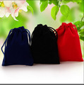 "Velvet Gift Pouch 7x9cm (2.75""x3.5"") pack of 50 Higher Quality Earring Stud Ring Jewelry Drawstring Packaging Bag"