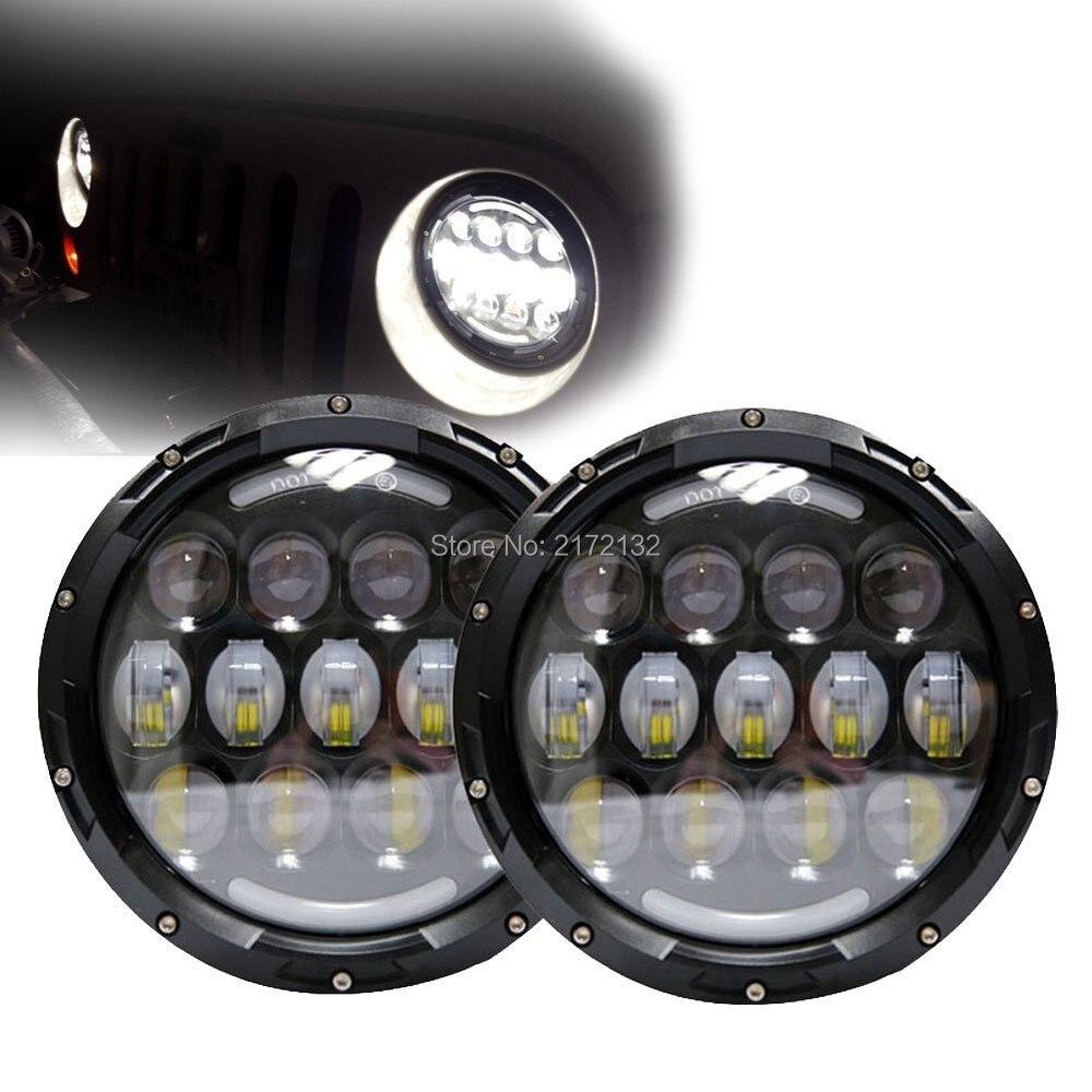 """""""Одна пара 7"""""""" 78W светодиодный проектор фара Сид управляя свет H4 Н13 замены фар для Jeep Вранглер JK """""""