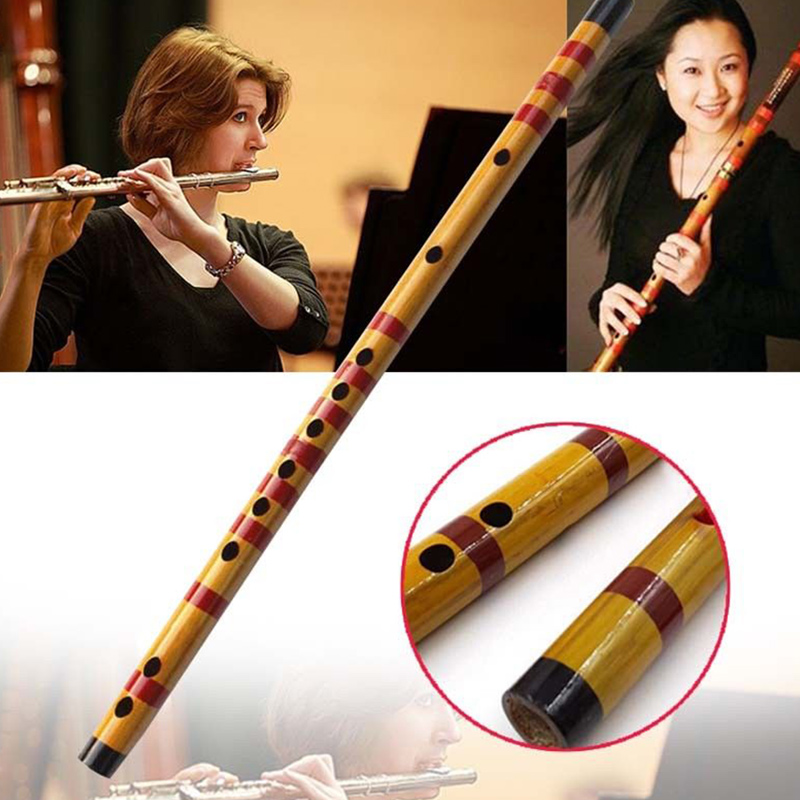 1 Pcs Professional Flute Bamboo Musical Instrument Handmade for Beginner Students EDF88