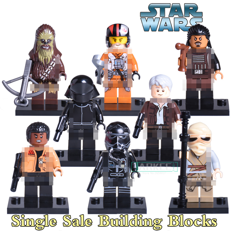Building Blocks Bricks Star Wars Black Stormtroopers Darth Vader The Fighter Rey Tasu Leech Kids Toys Hobbies Gifts DIY Figures lord of the rings pg518 witch king of angmar the black gate diy figures building blocks bricks kids diy toys hobbies single sale