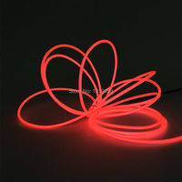 15Meters 3.2mm Flexible Neon Light EL Wire Rope tape Strip LED Strip Neon tube Light Powered by AC220V Flashing EL controller