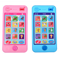Kids Russian Language ABC Alphabet Math Animal Sound Early Learning Education Machines 4G Phone Toy