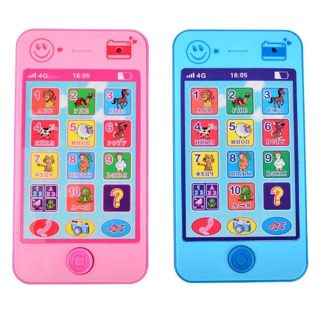 Детские Игрушки с АБВ Алфавитом, Русским Языком, Математикой и Звуком Животных, Ранние Обучающие & Образовательные Машинки, 4G Игрушка Телефон