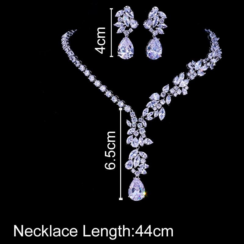 Emmaya New Unique Design Choker Necklace Stud Earrings Bridal Jewelry Sets Wedding Accessories Dropship 2