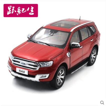 New Ford Everest 1:18 SUV car model alloy diecast Collection Red original JMC U375 JEEP boy gift hot sale maisto jeep wrangler rubicon fire engine 1 18 scale alloy model metal diecast car toys high quality collection kids toys gift