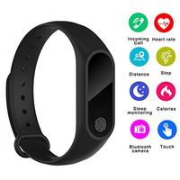 M2 Smart Bracelet Heart Rate Monitor Bluetooth Smartband Health Fitness Tracker Smart Band Wristband for Android iOS
