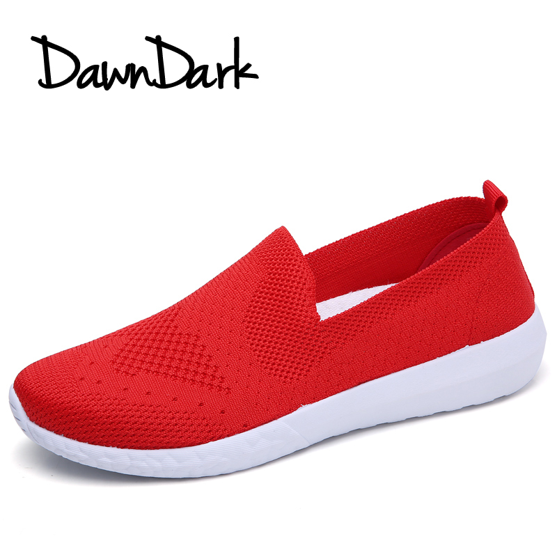 Woman Casual Shoes Breathable Mesh Women Fashion Walking Sneakers Slip on Lightweight Ladies Round Toe Flat Loafers