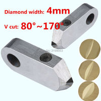 Posalux machine tools and accessories 4mm PCD posalux V diamond tools jewellery cutting tool for metal gold silver ring faceting
