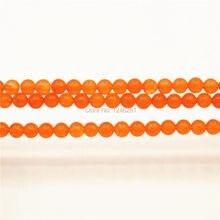 c6a42fc00b69 4 6 8 10 12mm Accesorios naranja Calcedonia artesanía cuentas sueltas de  mujer redondo de piedra