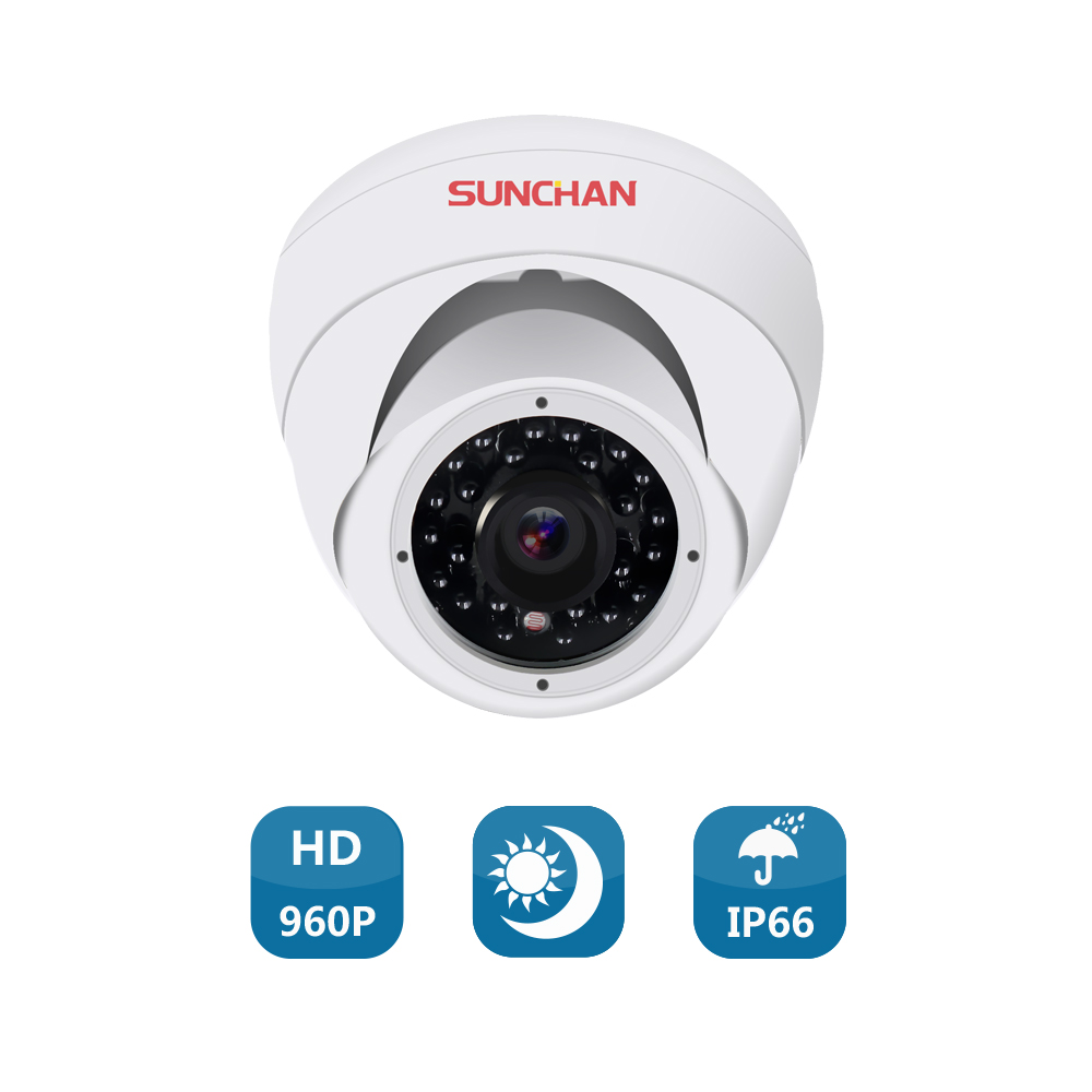 SunChan High Quality 1.3MP AHD Camera Color CMOS 1500TVL 960P24 IR LEDs Night Vision Security Camera Indoor CCTV Camera
