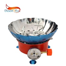 Desert&Fox Outdoor Stove Lotus Flower Shape Wind Deflector Camping Picnic Cooking Tools Portable Folding Gas