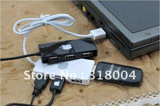 4 porto HUB USB extender para iphone ipad MP3 USB 2.0 de alta velocidade câmera de cor