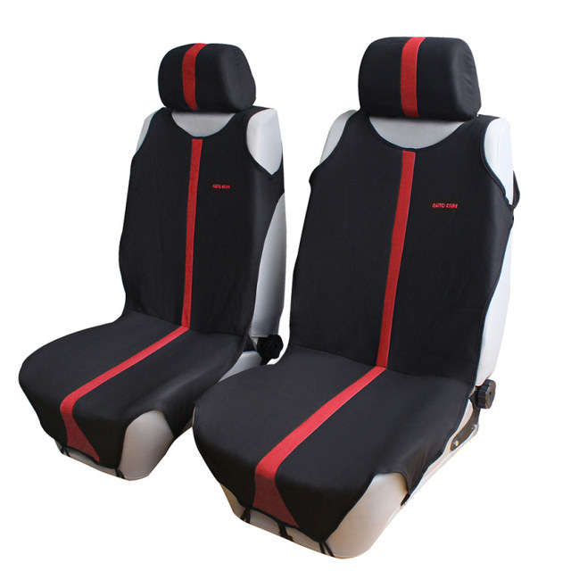 Auto Care T Shirt Design 2pcs Front Car Seat Covers Universal Fit Protector 3 Colors For Choice Interior Accessories