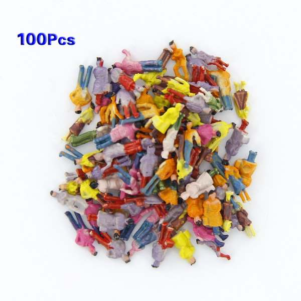 New 100pcs Painted Model Train People Figures Scale N (1 to 150) image