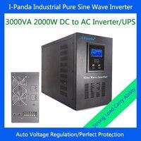 Free Shipping EU Spain Australia 2000w DC24V DC48V Pure Sine Wave Power Inverter Homeuse Air Conditioner