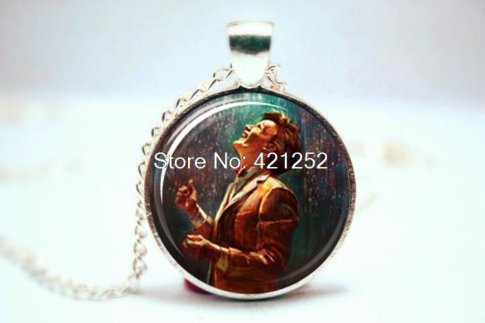 10pcs/lot Doctor Who 11th Doctor Inspired Necklace Glass Photo Cabochon Necklace