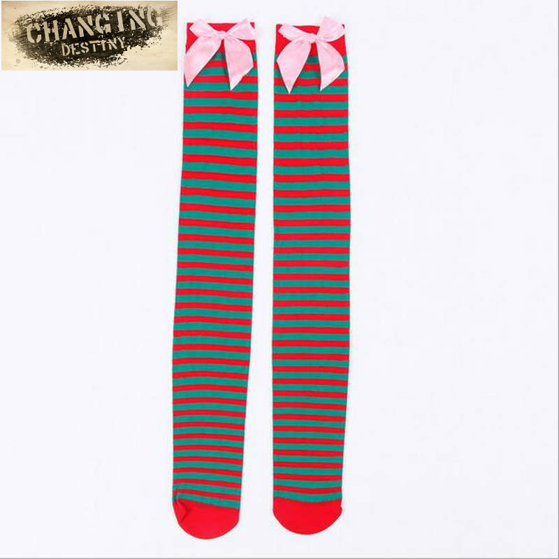 8c1eeb78964 Detail Feedback Questions about Hot Sale New Sexy Women Girl Striped Cotton  Thigh High Stocking Over The Knee Socks Fashion Stockings for Dating Cosplay  ...