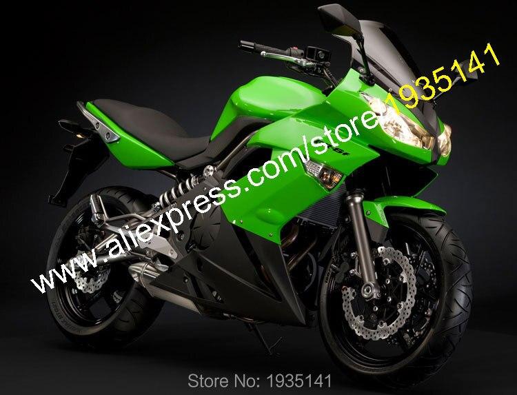 Горячие продаж,для Kawasaki ниндзя 650р части ER6F 2009 2010 2011 ЕР-6Ф 09 10 11 ЕР 6Ф зеленый черный послепродажного мотоцикл обтекатель комплект