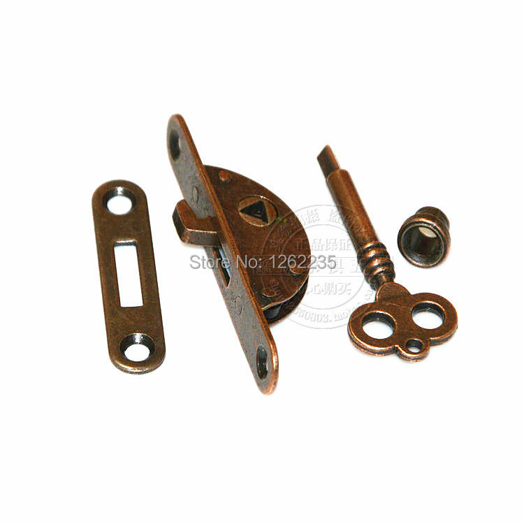 Lowest whole network Antique furniture locks Drawer Honggu Tongsuo Bronze cabinet  locks Counter lock Cabinet lock Wholesale-in Locks from Home Improvement ... - Lowest Whole Network Antique Furniture Locks Drawer Honggu Tongsuo