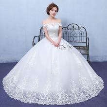 Luxury New Simple 2019 Bride DressLace Elegant Wedding Dresses Plus size Vestido De Noiva