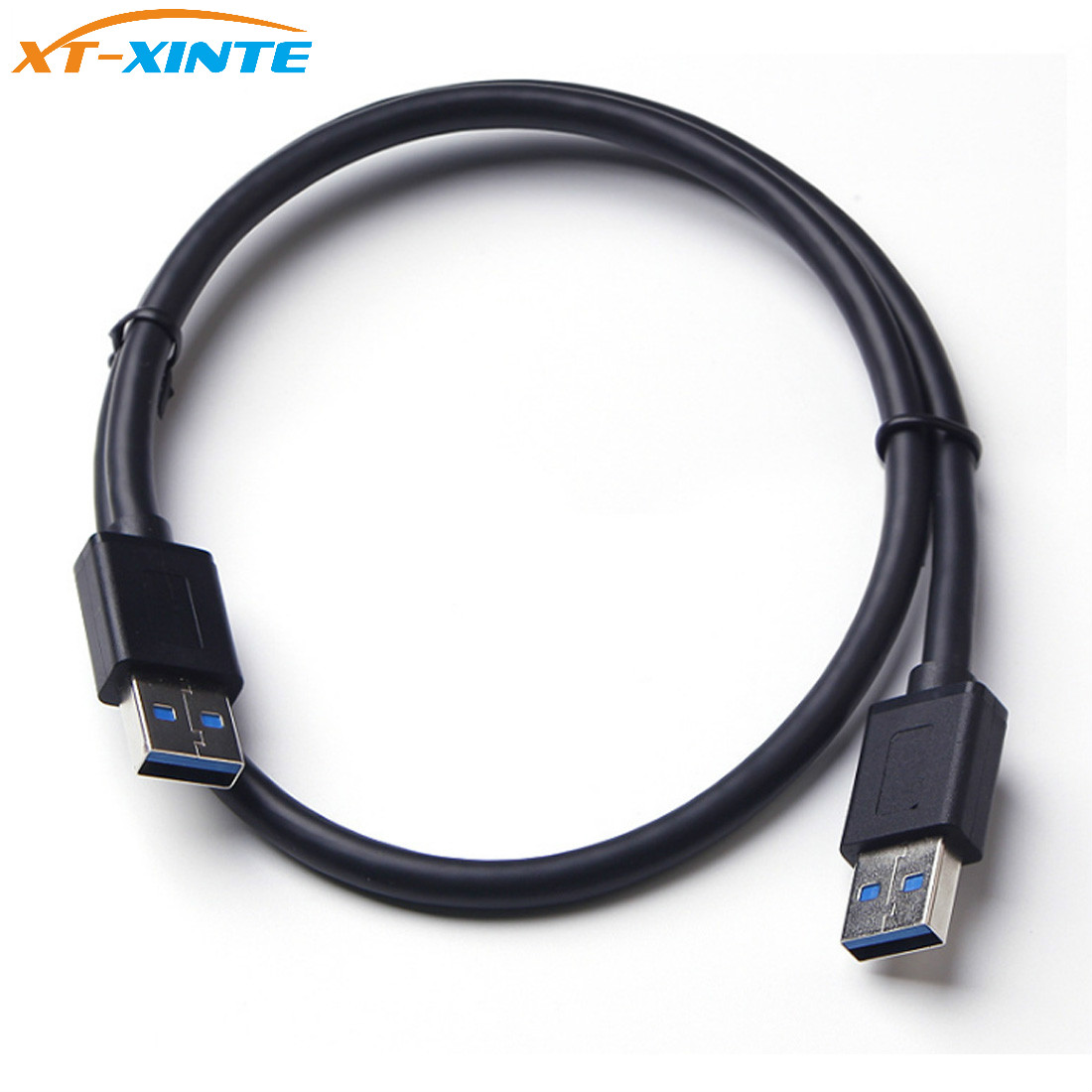 купить USB3.0 Extension Cable High Speed Male to Male Cable 0.5M Extender USB 3.0 Transfer Sync Wire Cord for Radiator Hard Disk Miner недорого
