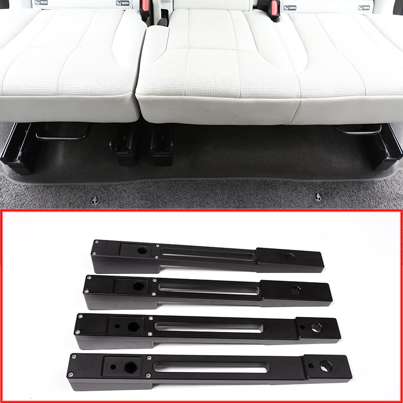 Aluminum alloy Car Rear Seat Heightening Pad Kits Strips Trim For Land Rover Discovery 5 2017 2018 Car Accessories 4Pcs/set
