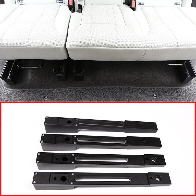 En alliage d'aluminium De Voiture Arrière Siège Surélévation Pad Kits Bandes Garniture Pour Land Rover Découverte 5 2017 2018 Voiture Accessoires 4 pcs/ensemble
