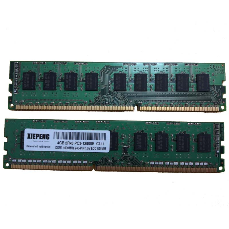 Serveur RAM DDR3 4 GO 1600 MHz 8 GO 2Rx8 PC3-12800E Mémoire 8G 1600 DDR3 ECC PC3 12800 unbuffered SDRAM