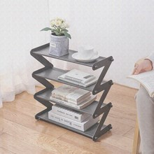 DIY Z shaped Large Shoe Rack Storage Shelf 4 Layers ABS plastic Non-woven Cabinet Organizer Holder Shoes Stand