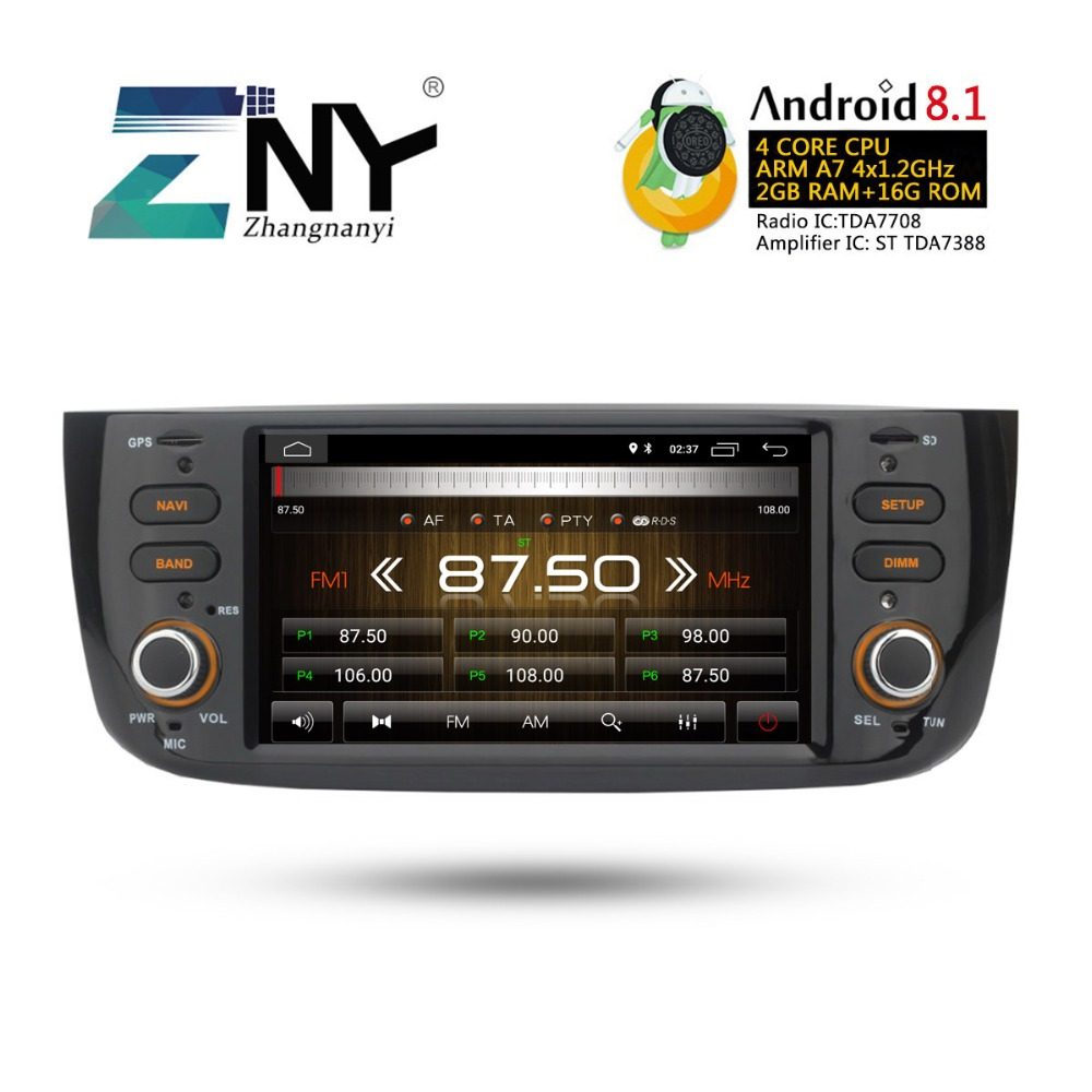 Image 4 - Android 8.1 Car Audio Video For Fiat Grande Punto Linea 2012 2013 2014 2015 Radio FM RDS WiFi GPS Navigation Rear Camera No DVD-in Car Multimedia Player from Automobiles & Motorcycles