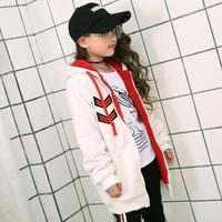 Zima Dziewczynka Odzieży Płaszcz Z Długim Rękawem Dla Dzieci Z Kapturem Na Suwak Ciepłe Kurtki Koreański Odzież Dla Dzieci W Stylu Dziewczyny Dzieci Odzież