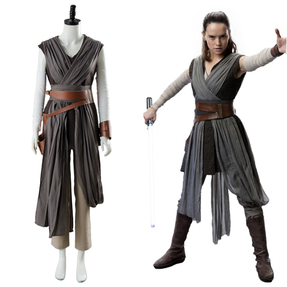 cosplay star wars 8 the last jedi rey cosplay costume outfit ver 2 full set halloween carnival