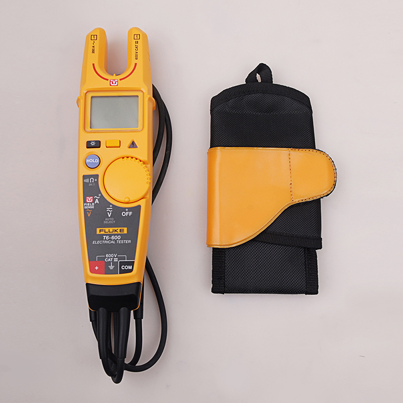 Fluke T6 600 Clamp Continuity Current Electrical Tester Non contact Voltage Clamp Meter Carrying Holster