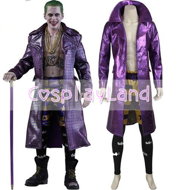 Good Halloween Costumes For Adult Harley Quinn Suicide Squad Joker Cosplay  Costume Purple Leather Jacket Fancy Suicide Squad Costume