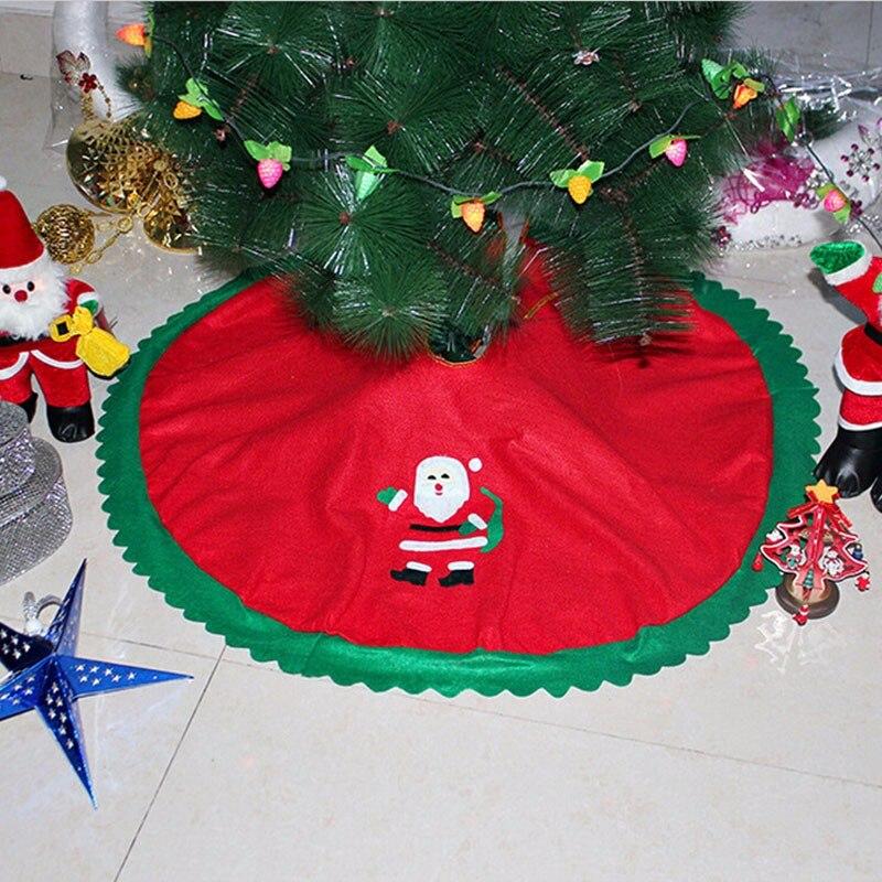90 см Санта Клаус Рождество дерево юбка Золотой Край оленей крышка База 2017 Merry Рождество украшения елка Обложка Декор