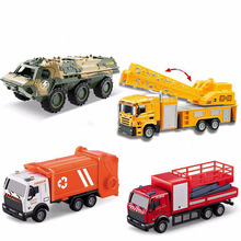 New Mini Engineering Car Pull Back Toy Excavator Forklift Mining Truck Dump Crane Aircraft Road Roller Childrens Toys