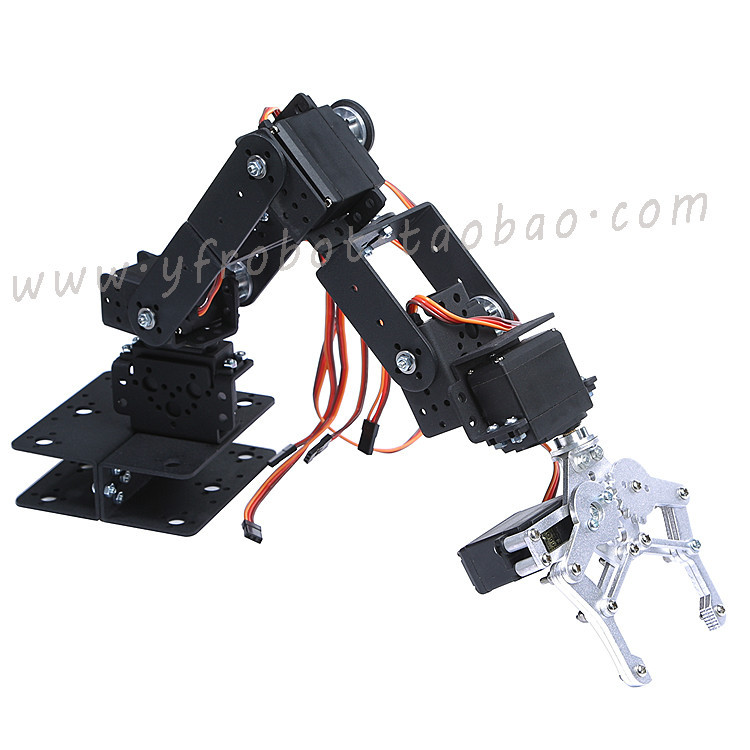 Manipulator 6 direction freedom mechanical robot arm three-dimensional rotation 6 Servo Motor metal gear for Arduino jx pdi 5521mg 20kg high torque metal gear digital servo for rc model