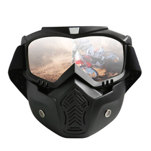 Universal multi-style cross-country motorcycle for men and women Harley retro helmet mask goggles