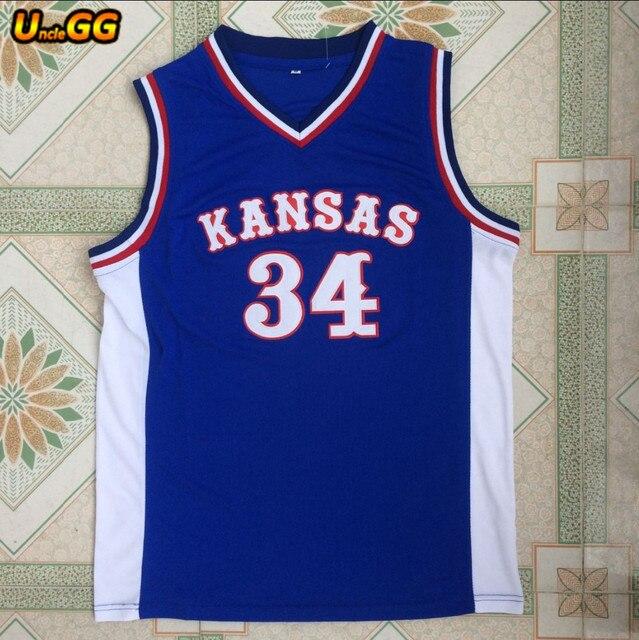 newest 96b1f f64f3 Uncle GG 2017 Mens Paul Pierce Jersey Cheap Throwback Basketball Jersey #34  Kansas Jayhawks KU College Retro Sport Shirt-in Basketball Jerseys from ...