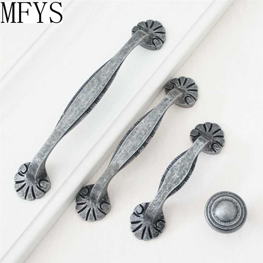 3.75 5 Cabinet Handles Pulls Antique Black Silver Pewter Drawer Knobs Handles Kitchen Cupboard Door Pulls Handles Dresser Pulls Handles