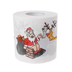 240 листья 2 слоя Рождество Санта Клаус Олень туалетная бумага рулон ткани декор в гостиную #6EE300006