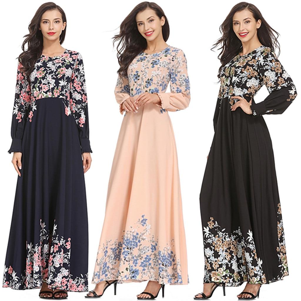 Zerotime #W4 FASHION Women Long Dresses Womens Muslim Loose Solid Color Robe Clothing Abaya Islamic Arab Kaftan Free Shipping
